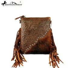 Montana West Handbag Western Style  Cowgirl Bling Purse Coffee crossbody fringe