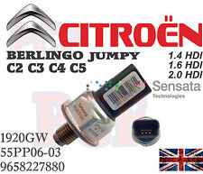 Genuine Fuel Pressure Sensor CITROEN C2 C3 C4 C5 Berlingo Jumpy 1.4 1.6 2.0 HDI