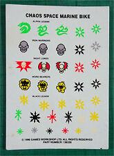 CITADEL - Chaos Space Marines - Bike - Transfer Decal Sheet - 40K Army