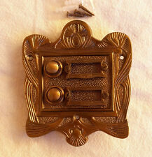 Geschenknet Antik Messing Klingel 2 Jugendstil Klingelschild Klingelplatte  K26A