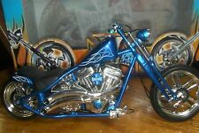 "West Coast Choppers""Cherry CFL"" Blue Diecast Jessi James Muscle Machines 1:10"