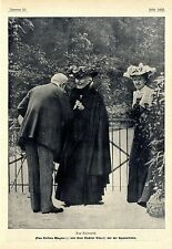 Aus Bayreuth Frau Cosima Wagner und ihre Tochter Eva vor der...Bilddokument 1906
