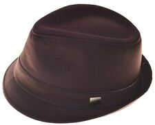 Brown Basic Demanded Fedora Hat Youth Size Cap-8~20-sm(hatter)