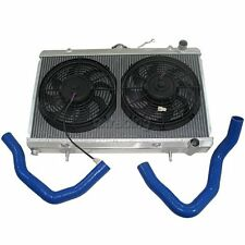 "CX Aluminum Radiator + 12"" Fan for 89-94 240SX S13 KA24 CA18DET RB20 Engine"