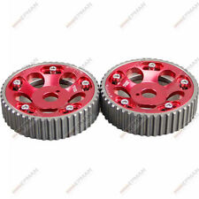 RACING ADJUSTABLE CAM GEARS PAIR fits TOYOTA SUPRA 1JZ 2JZ TE RED/BLUE DRIFTING