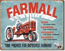 IH Farmall C TIN SIGN antique tractor ad vtg garage metal poster wall decor 1620