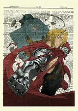 Fullmetal Alchemist Edward Alphonse Anime Dictionary Art Print Poster Full Metal