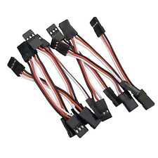 New 10PCS 5cm Male to Male Quadcopter Servo Extension Lead Futaba JR Wire Cable