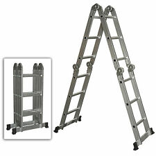 Multi Purpose Aluminum Ladder Folding Step Ladder Scaffold Extendable Heavy