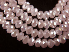 Bulk 200Pcs Jade Pink AB Crystal Glass Faceted Rondelle Bead 4mm Spacer Findings