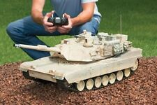 MILITAR;Y Abrams Battle Tank Replica M1A2 Real Scale Fire Remote Control RC