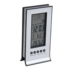 Indoor Outdoor Wireless Thermometer Weather Station Alarm Clock Calendar EC