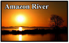 AMAZON RIVER, SOUTH AMERICA - SOUVENIR NOVELTY FRIDGE MAGNET - BRAND NEW - GIFT