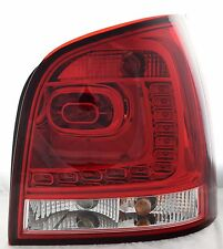 LHD Back Rear Tail Lights Lamps LED Dark Red Clear For VW Polo 9N3 05-09- On
