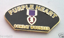 PURPLE HEART COMBAT WOUNDED  Military Veteran HERO Hat Pin P12253 EE