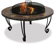 Outdoor Fire Pit Wood Burning Bowl Backyard Table Round Patio Heater Fireplace