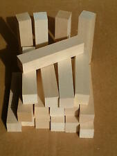 "Basswood blocks,  20 Pcs, 1x1"" squares x 5"",  carving wood, bass lumber, stick"