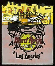Hard Rock Cafe LOS ANGELES 2005 City Tee T-SHIRT Series PIN Drums & Cityscape