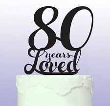 Hermoso 80th Cake Topper