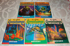 Goosebumps Books Lot  Monster Blood 1, 2, 3 The Haunted Mask 1, & 2, R. L. Stine