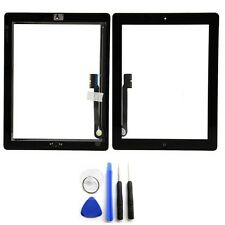 Black Glass Touch Screen Digitizer W/ Home Button Assembly for iPad 3 4 + Tools