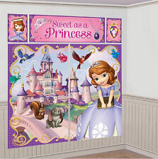 Sofia The First Wall Decoration Kit, Scene Setter Happy Birthday Party Supplies
