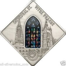 St. Vitus Cathedral - Sacred Art  Silver Coin 10$ Palau 2013