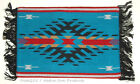 """Woven Placemat Table Mat Native American Southwestern Fringed 13x19"""" design #2B"""