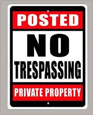 """POSTED-NO TRESPASSING-PRIVATE PROPERTY"" 9""x12"" metal sign -Free Shipping"