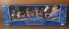 Memory Lane Rudolph the Red Nose Reindeer Santas Sleigh with Reindeer & Rudolph