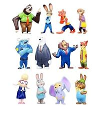 Zootopia Judy Hops Nick Playset 12 Figure Cake Topper * USA SELLER* Toy Doll Set