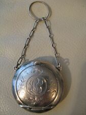 Antique Victorian Chatelaine BIRKS STERLING Silver Snuff Patch Box Compact CV