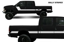 Vinyl Decal Rally Stripes Wrap Kit for Ford F-250/F-350 Truck 99-06 Matte White