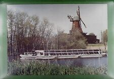 CPA Germany Hamburg Bergedorf Schiffe Ship Windmühle Windmill Moulin Molin w275