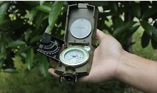 Military Compass Chronometer Army Type Pocket Hiking Kit Professional Equipment