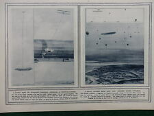 1914 ANTI ZEPPELIN IDEAS - HOOK BOMBS AND AIR MINES WWI WW1