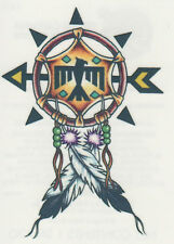NATIVE AMERICAN INDIAN DREAM CATCHER TRIBAL EAGLE FEATHERS TEMPORARY TATTOO