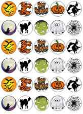30 Halloween Edible Cup Cake Toppers / Fairy / Cupcake / Decoration