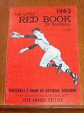 The Little Red Book of Baseball 1963  Baseball's Book of Official Records