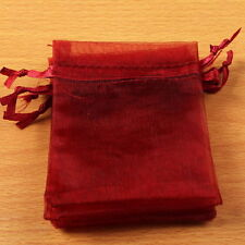50x NEW Wholesale Organza Wedding Pouch XMAS Package Gift Bags Findings 7x9cm BS