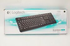 NEW Logitech K120 Keyboard - Wired USB - Low-profile Keys, Spill Resistant.