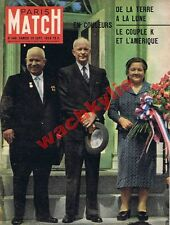 Paris Match n°546 du 26/09/1959 Krouchtchev Eisenhower URSS USA Espace lune