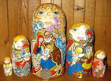 Russian Nativity Nesting DOLLS Baby Jesus Mary Joseph ANGEL Christmas OOAK GIFT