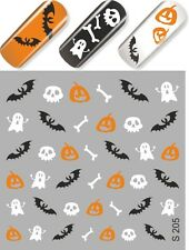 MILV # S 205 Nail Art Water Transfers Decals Stickers Slider desing Halloween