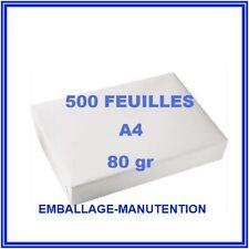 2 RAME2 PAPIER 500 FEUILLES ~ A4 80gr ~ RAMETTE IMPRIMANTE ~ LIVRAISON GRATUITE