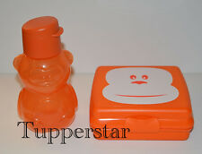 "Tupperware Set EcoEasy Trinkflasche 350ml + Sandwichbox - Brotdose ""Affe"""