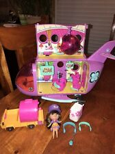 LITTLEST PET SHOP LPS BLYTHE PURPLE JET PLANE & ACCESSORIES