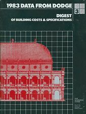 1983 Dodge Digest of Building Costs & Specifications Construction  MH