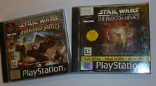 PS1 PLAYSTATION 1 STAR WARS GAMES BUNDLE EPISODE I PHANTOM MENACE + JEDI BATTLES