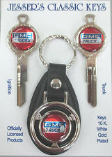 Red GMC Trucks B-44-E Deluxe  Classic White Gold Key Set 1969 1973 1977 1981